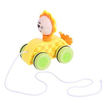 Bigjigs Toys, drewniany Lew na kółkach-Bigjigs Toys