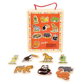 Bigjigs Toys, magnesy na lodówkę Dżungla-Bigjigs Toys