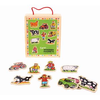 Bigjigs Toys, magnesy na lodówkę Gospodarstwo wiejskie-Bigjigs