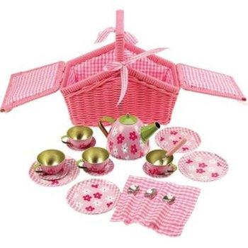 Bigjigs Toys, serwis w kwiaty do herbatki, zestaw-Bigjigs Toys