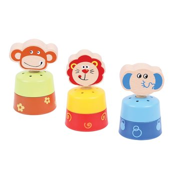 Bigjigs Toys, zabawka interaktywna Hałaśliwe zwierzątka Safari-Bigjigs Toys