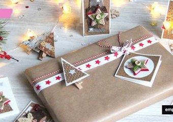Bileciki do prezentów - świąteczne inspiracje DIY