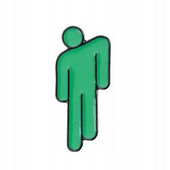 Billie Eilish przypinka zielona Bad Guy-Pinets