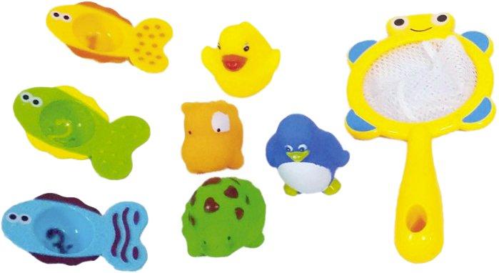 Bino, zabawki do kąpieli z siatką, zestaw - Bino
