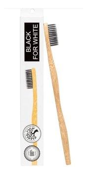Biomika, Black For White, bambusowa szczoteczka do zębów, 1 szt.-Biomika