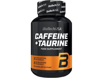 BioTech, Boostery treningowe, Caffeine + Taurine, 60 kaps-BioTech
