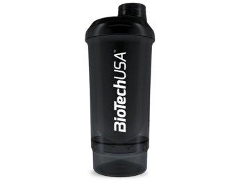 Biotech, Shaker Wave+ Compact, czarno-biały, 500ml (+150ml)-BioTech