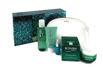 Biotherm, Aquasource, zestaw kosmetyków, 4 szt. + kosmetyczka-Biotherm