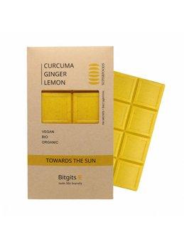 Bitgits, Towards the sun, kurkuma, imbir i cytryna, czekolada wegańska, Pozytywne Wibracje-Bitgits