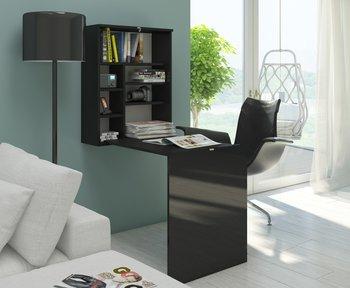 Biurko składane wiszące Hide czarny mat/czarny połysk-BIM Furniture