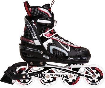 Blackwheels, Rolki regulowane Flex, czarno-czerwony, rozmiar 35-38-Blackwheels