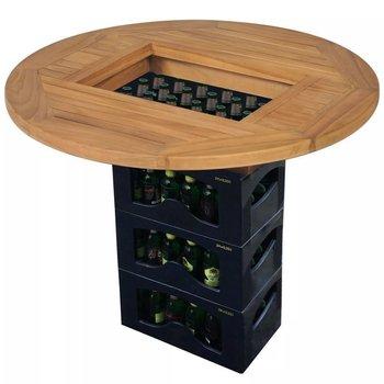 Blat drewniany na skrzynie z piwem vidaXL, brązowy, 70x7,5 cm-vidaXL