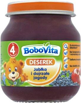 Bobovita, Deserek, Jabłka i dojrzałe jagody, 125 g, 4m+-BoboVita
