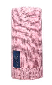 Bocioland, Kocyk bambusowy, Paris, Różowy, 80x100 cm-Bocioland