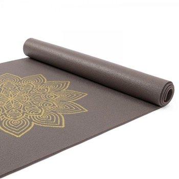 Bodhi Yoga, Mata do jogi, Rishikesh Premium, 4.5mm, brązowy, żółty, 180cm-Bodhi Yoga