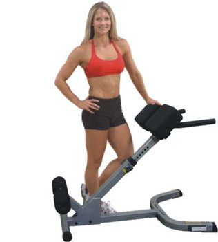 Body-Solid, Ławka do ćwiczeń brzucha i grzbietu, Hyperextension 45°, GHYP45