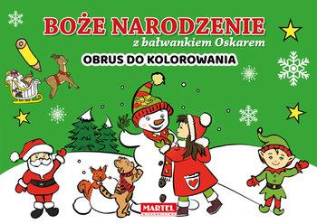 Boże Narodzenie z bałwankiem Oskarem. Obrus do kolorowania-Krzemień-Przedwolska Joanna