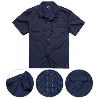 Brandit Koszula Mundurowa z Krótkim Rękawem US Rip-Stop Navy - Navy Blue - M-Brandit