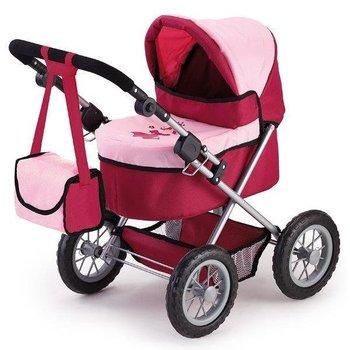 Brimarex, wózek dla lalek Trendy, różowo-czerwony w pud.-Brimarex