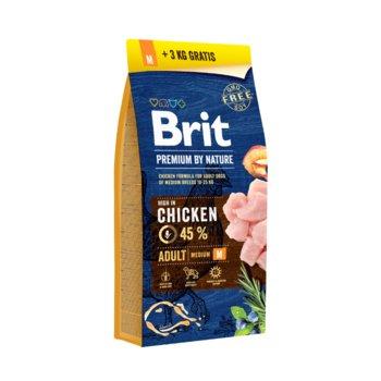 Brit Premium By Nature Adult Medium M 15kg + 3kg-Brit