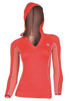 Brubeck, Bluza damska z kapturem, LS1000, czerwona, rozmiar S-BRUBECK