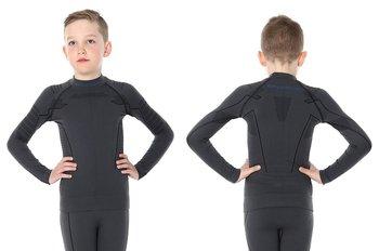 Brubeck, Koszulka chłopięca termiczna z długim rękawem, Thermo Junior, grafitowy, rozmiar 128/134-BRUBECK