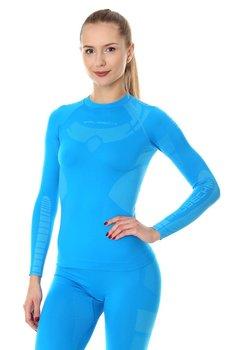BRUBECK, Koszulka damska, termoaktywna, Dry, niebieski, rozmiar XL-BRUBECK