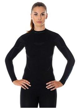 Brubeck, Koszulka damska, Thermo, czarny, rozmiar XS-BRUBECK