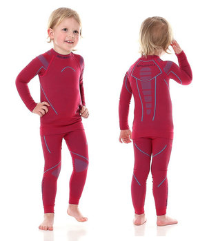 b26b7951fc249e Brubeck, Koszulka dziewczęca termiczna z długim rękawem, Thermo Junior,  czerwony, rozmiar 116/122