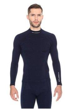 Brubeck, Koszulka termoaktywna męska z długim rękawem, Extreme Wool, granatowy, rozmiar XXL-BRUBECK