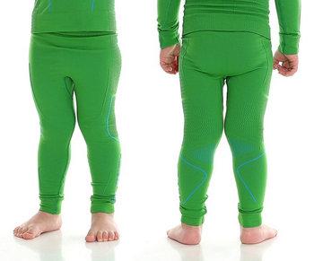 52c0d0bcea0c45 Brubeck, Spodnie chłopięce termiczne, Thermo Junior, zielony, rozmiar 116/ 122
