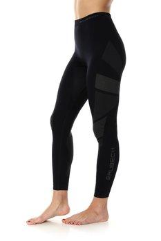 BRUBECK, Spodnie damskie, termoaktywne, Dry, czarny, rozmiar M-BRUBECK