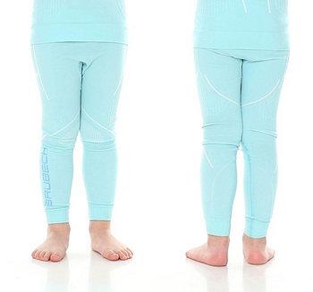 Brubeck, Spodnie dziewczęce termiczne, Thermo Junior, błękitny, rozmiar 92/98-BRUBECK