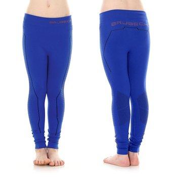 Brubeck, Spodnie dziewczęce termiczne, Thermo Junior, kobaltowy, rozmiar 128/134-BRUBECK