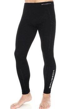 Brubeck, Spodnie termoaktywne męskie, Extreme Wool, czarny, rozmiar L-BRUBECK