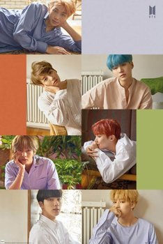 BTS Group Collage - plakat 61x91,5 cm - GBeye