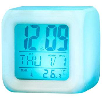 Budzik Termometr Zegarek Świecący Kameleon LED-Iso Trade
