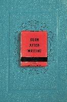Burn After Writing-Jones Sharon