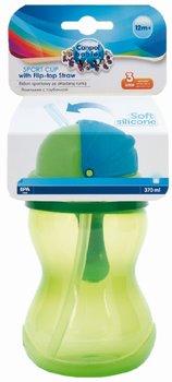 Canpol Babies, Bidon sportowy ze składaną rurką, Zielony-Canpol Babies