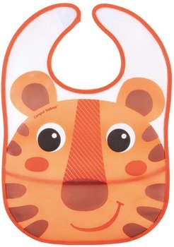 Canpol Babies, Hello Little, Śliniak zmywalny z kieszenią, Pomarańczowy-Canpol Babies