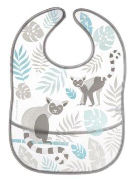 Canpol Babies, Jungle, Śliniak z kieszenią, zmywalny, Szary-Canpol Babies