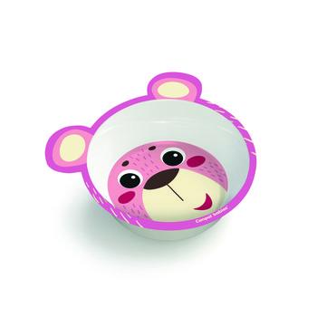 Canpol Babies, Miseczka antypoślizgowa z uszami, Hello Little, Melamina, Różowa-Canpol Babies