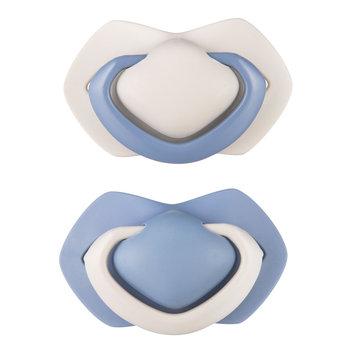 Canpol babies, Pure, Zestaw smoczków uspokajających, silikonowe, symetryczny, 6-18m, Nibieski, 2 szt.-Canpol Babies