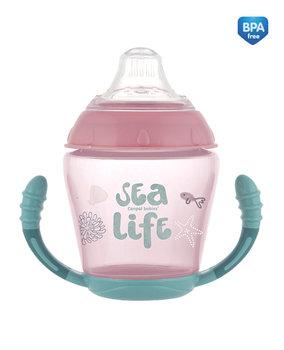 Canpol Babies, Sea Life, Kubek niekapek, silikonowy, Różowy, 230 ml-Canpol Babies