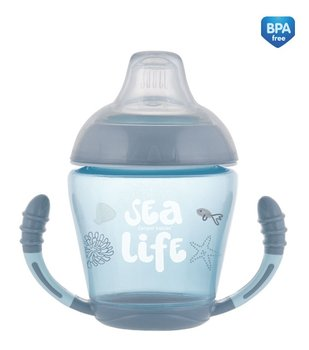 Canpol Babies, Sea Life, Kubek niekapek, silikonowy, Szary, 230 ml-Canpol Babies