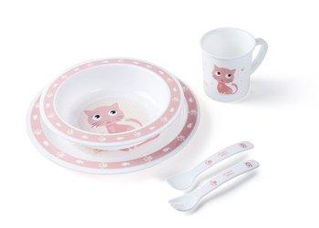 Canpol, Cute Animals, Plastikowy zestaw stołowy, Kotek-Canpol Babies