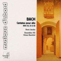 Cantates pour alto, BWV 35, 53, 82
