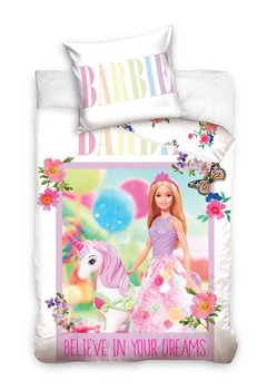 Carbotex, Barbie, Komplet pościeli do łóżeczka, 100x135 cm-Barbie