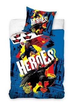 Carbotex, Batman&Superman, Komplet pościeli 160x200 cm-Carbotex