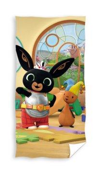 Carbotex, Królik Bing, Ręcznik dziecięcy, kąpielowy, Bing i Sula, 70x140 cm-Carbotex